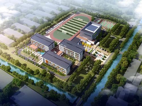 青岛西海岸新区两学校开工,给你的孩子高大上校园体验