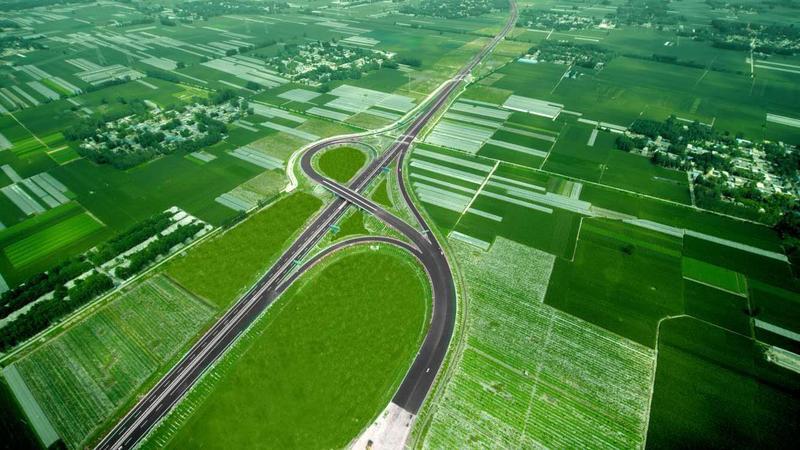山东  莘南高速位于聊城市莘县境内,是山东省基础设施重点项目,是山东