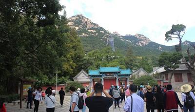 """游客同比增长228%,国庆首日崂山旅游迎""""开门红"""""""