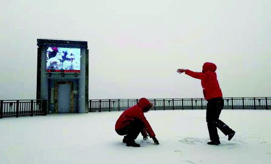 今冬初雪昨日报到 青岛发布道路结冰黄色预警