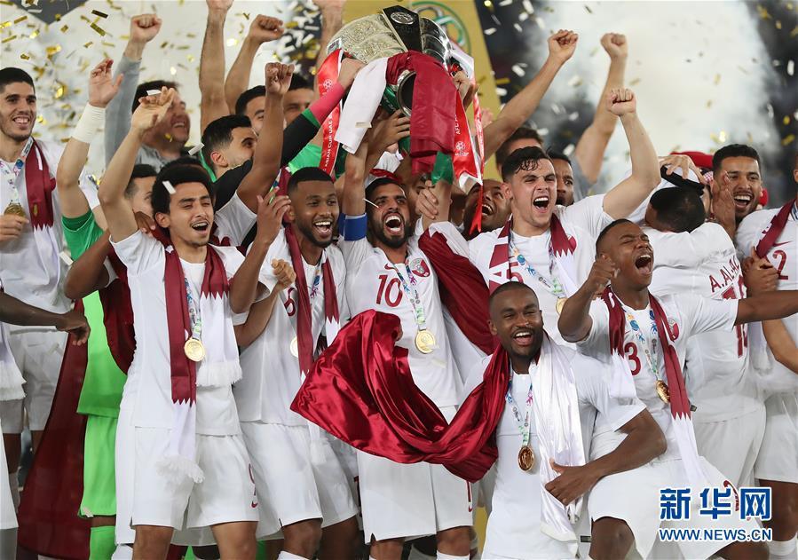 (亚洲杯)(1)足球——决赛:卡塔尔队夺冠