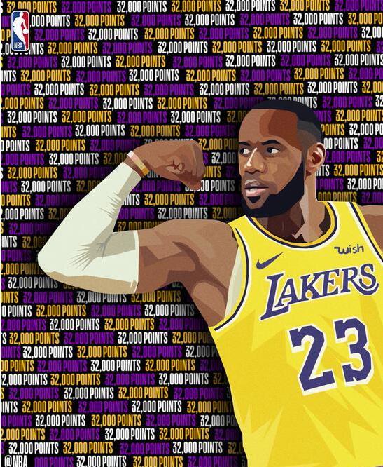 NBA丨詹姆斯单手隔扣拿下生涯第32000分 成历史第5人