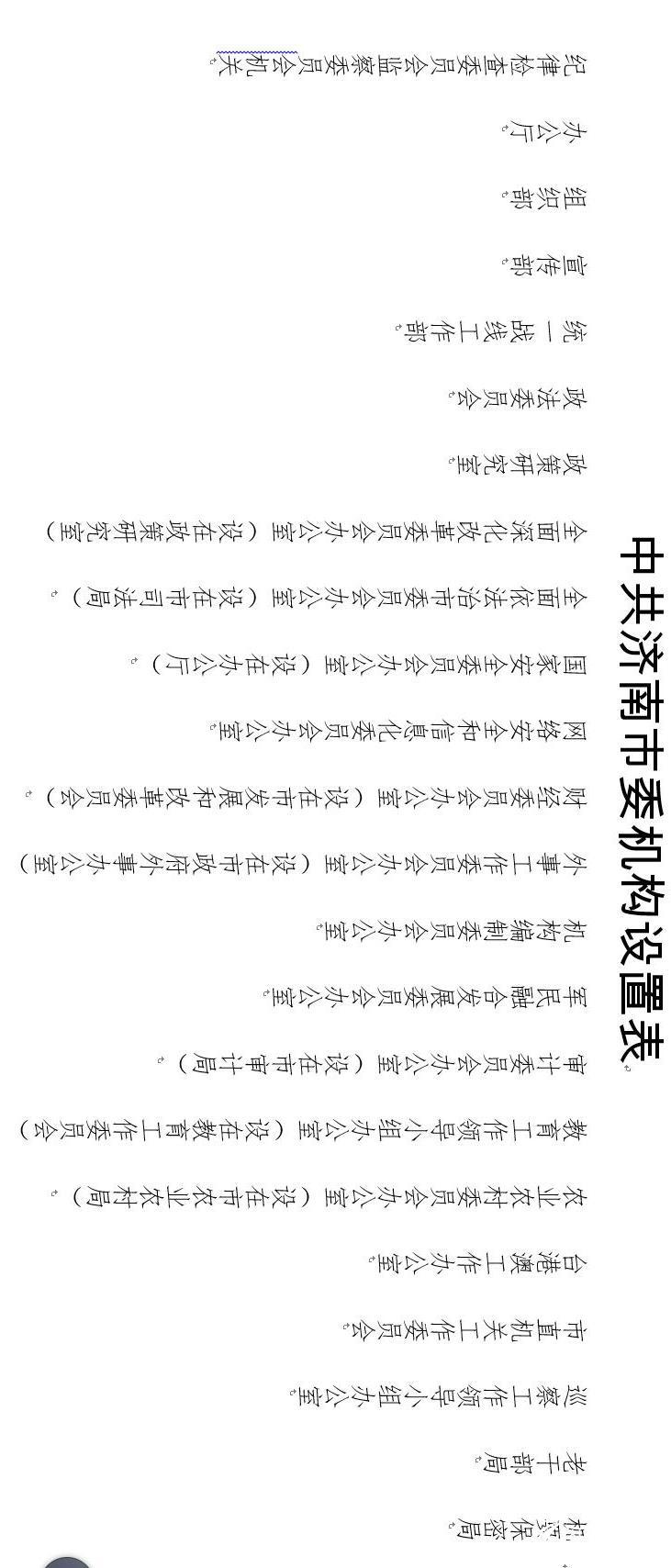 济南市市级机构改革怎么改?市委市政府机构设置公布