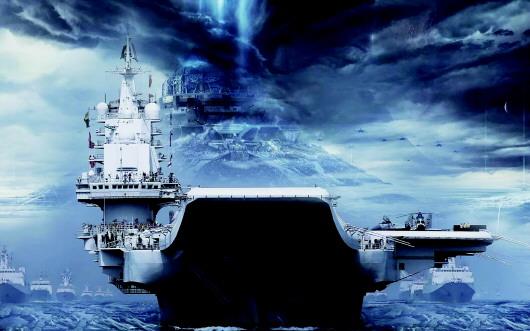 北海舰队官方微信发布一组科幻大片