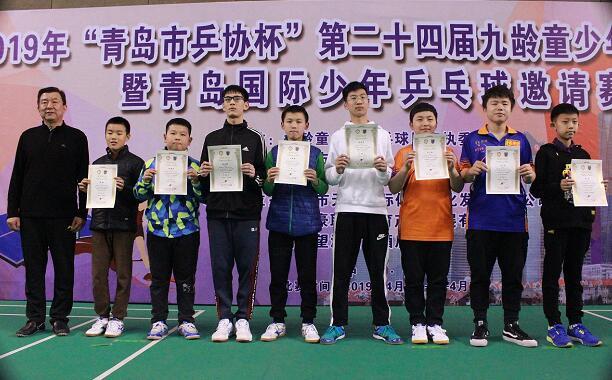 第二十四届九龄童少年乒乓球比赛青岛举行,本土乒乓小将包揽四冠