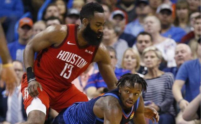 NBA季后赛火箭首战大破爵士 全队七人得分上双