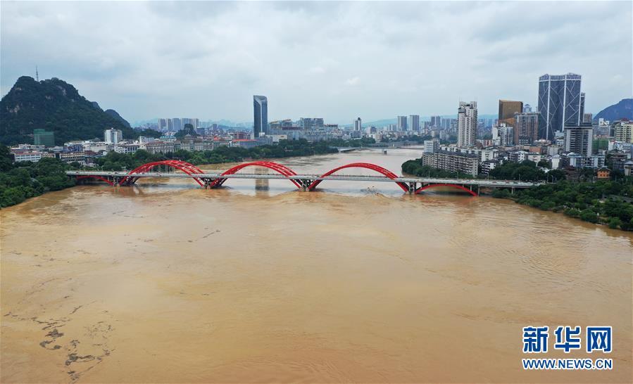 #(社会)(1)广西柳州:洪峰过境