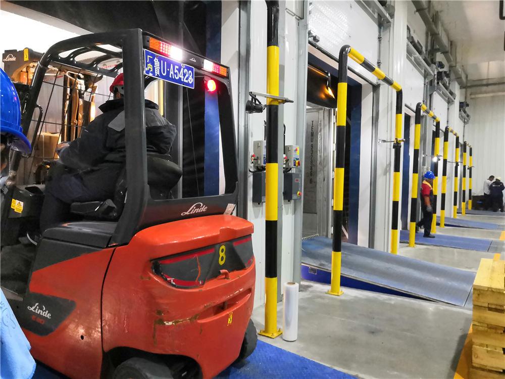 董家口15万吨冷链物流库正式启用,系世界上最大单体超低温冷库