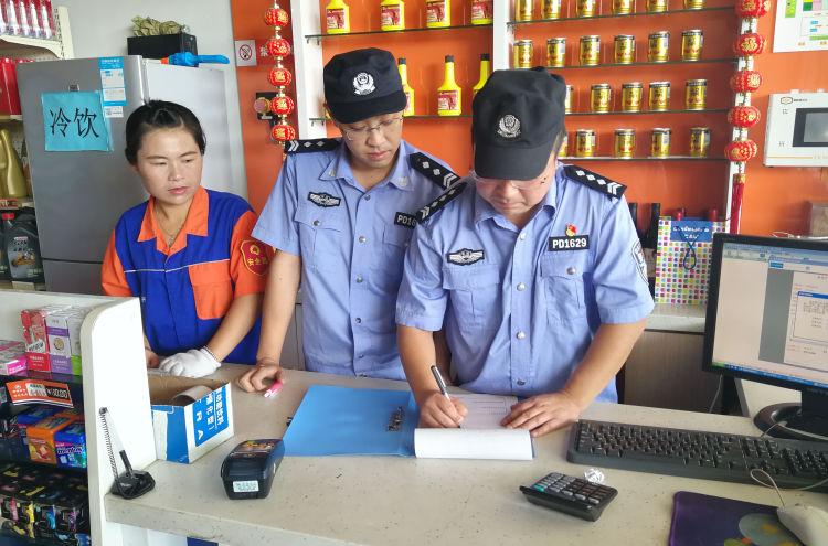 平度警方加强加油站安全检查 强化消防应急管理
