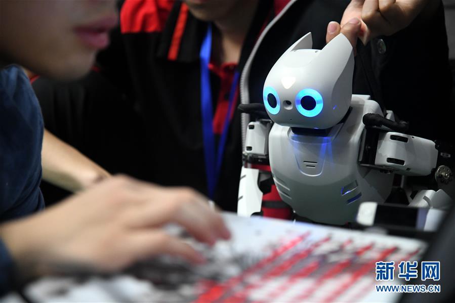(科技)(1)2019中国智能机器人大赛在青岛举行