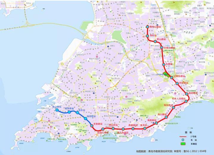 青岛地铁近期计划:1、4、8号线