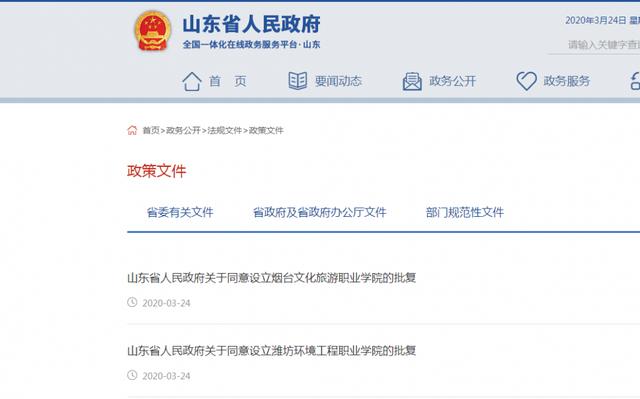 潍坊环境工程职业学院批复设立 驻潍高职院校达12所
