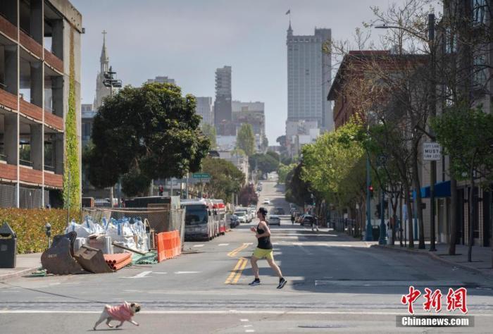 复活节遇上出行禁令,美国旧金山街头冷冷清清。<a target='_blank' href='http://www.chinanews.com/'>中新社</a>记者 刘关关 摄