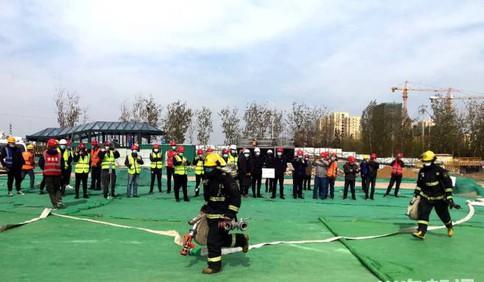 筑牢防火墙 青岛地铁8号线工程项目开展消防应急疏散和灭火预案演练