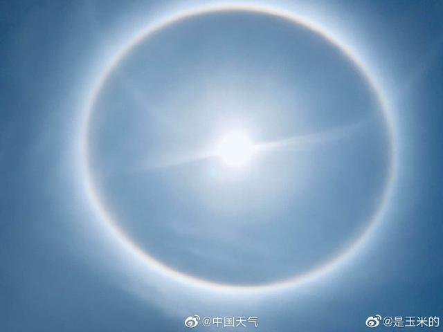 绍兴景点:天下多地上演日晕奇观 圈圈圆圆圈圈太美太震撼