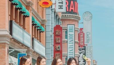 打卡青岛东方影都外景地:这里既怀旧又时尚 仿佛穿越到老上海和好莱坞