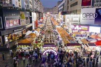 """青岛的城市""""烟火气"""":台东夜市客流量已恢复到""""六七成"""""""