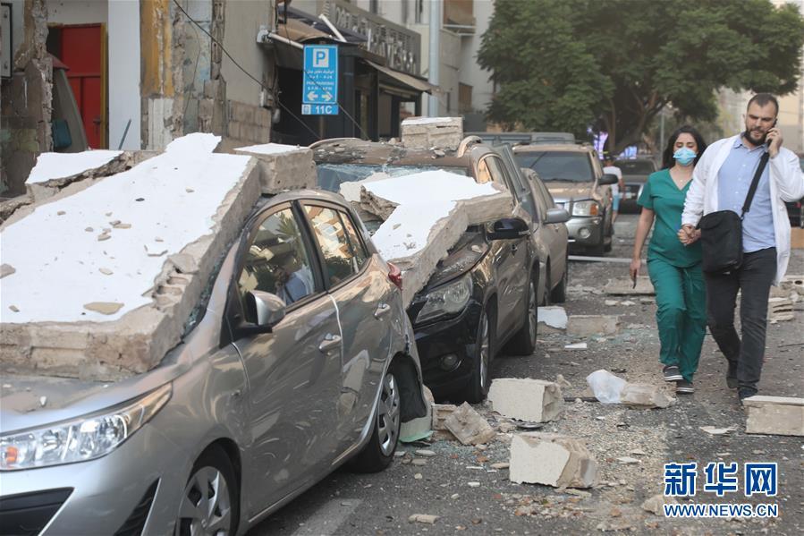 (国际)(12)黎巴嫩首都港口区发生爆炸 至少10人死亡