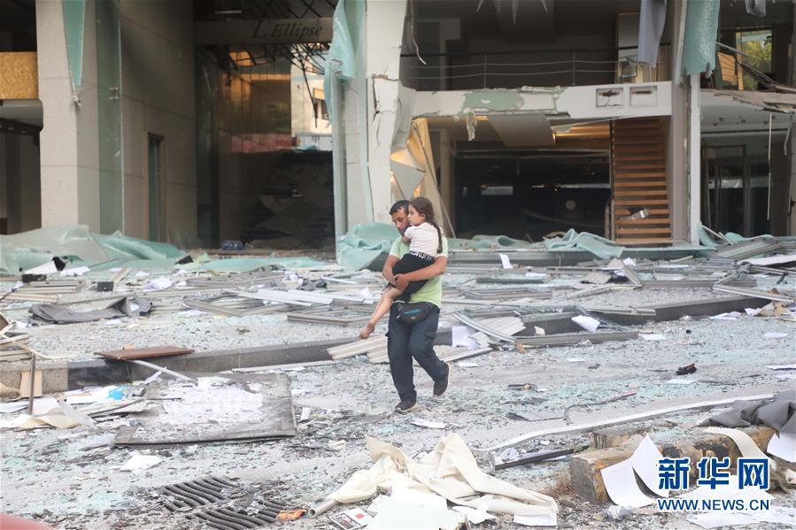 (国际)(8)黎巴嫩首都港口区发生爆炸 至少10人死亡