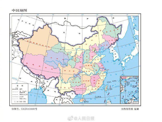 2020|扩散周知!自然资源部:2020年标准地图发布