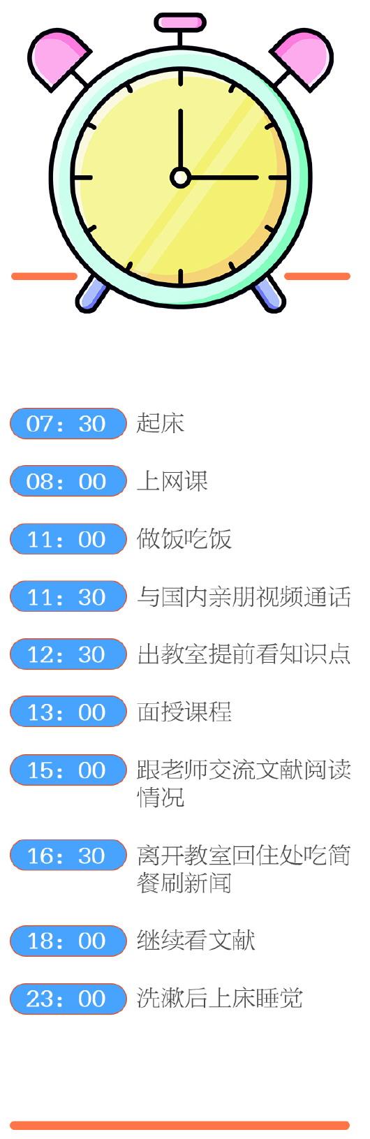 中国留学生李威辰的英国24小时:每周三节课 压力却如山
