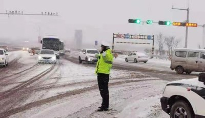 胶州最低温可达-15℃!雪天如约而临 出行注意安全