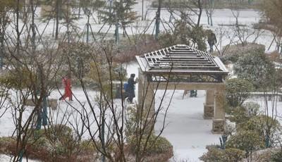 銀裝素裹 雪后青島身邊皆景