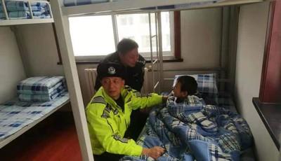 青島一3歲娃冰天雪地赤腳找媽媽 多虧了熱心路人和李滄交警
