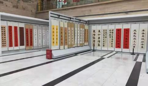 欢度春节喜庆元宵 来青岛市图书馆看楹联书法展
