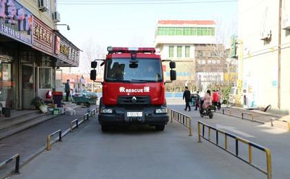 诸城消防大队开展消防车通道检查测试活动