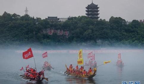 迎端午:汉江上龙舟竞渡