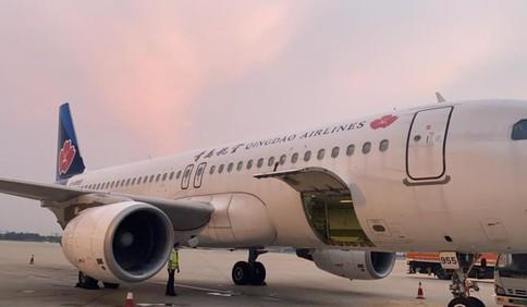 最后一个航班离港 正式告别流亭机场