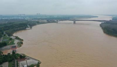 黄河济南段遇36年来最大秋汛 沿线干部村民24小时巡防黄河大堤