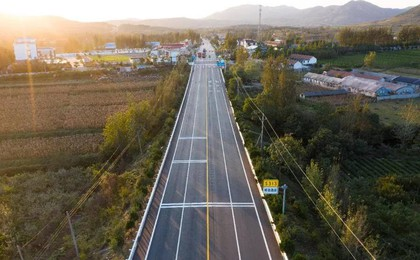 省道S313日滕线大中修工程项目竣工通车